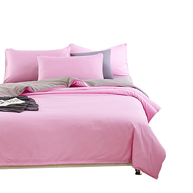 Mingjie Wonderful Pink And Grey Bedding Sets 4pcs For Twin