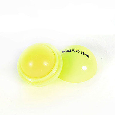 1PCS Round Ball Fruit Candy Color Moisturizing Lip Balm Gloss Natural Plant Sphere Lipstick Lip Care(6 Color Selected)