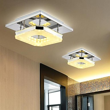 8 flush mount modern contemporary electroplated feature - Lamparas modernas de techo ...