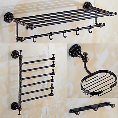 Set de accesorios de ba o bronce con ba o en aceitelat n for Accesorios bano bronce