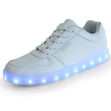 2867091a13b8 Flickor Skor PU Vår Komfort / Originell / Lysande skor Sneakers LED för Vit  / Svart