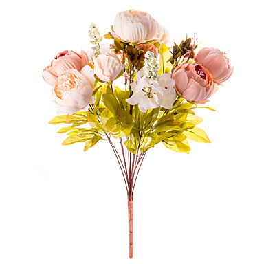 1 Branch Silk Peonies Tabletop Flower Artificial Flowers 50 x 30 x 30(19.69'' x 11.81'' x 11.81'')