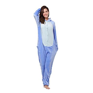 4ab442d353 Adulto Pijamas Kigurumi Monster Monstruo azul Animal Pijamas de una pieza  Franela Vellón Azul Cosplay por