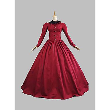 760ab6072d3c8 فيكتوريا العصور الوسطى القرن ال 18 كوستيوم نسائي فساتين أزياء الحفلة حفلة  تنكرية منفوش أحمر عتيقة