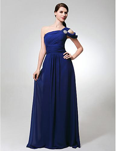 Vestido de madrinha de um ombro só de Kate Hudson