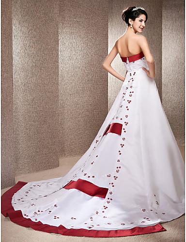 Lan Ting A-line/Princess Plus Sizes Wedding Dress - Ivory Chapel Train ...