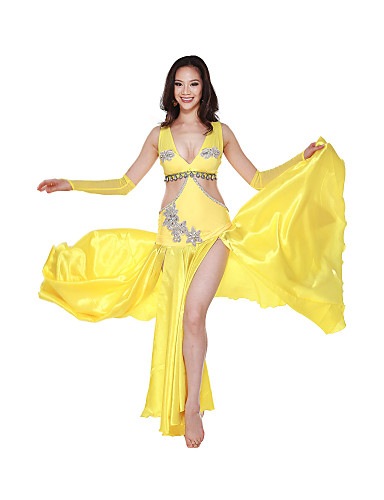 Performance Dancewear Satin and Spandex Belly Dance Dress For Ladies More Colors 513390 2017 ...