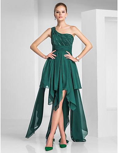 Vestido assimétrico verde