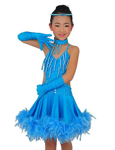 Prestazioni Spandex dancewear con abito da ballo latino per bambini ...