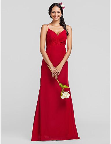 Vestidos longos de festa vermelhos transpassados