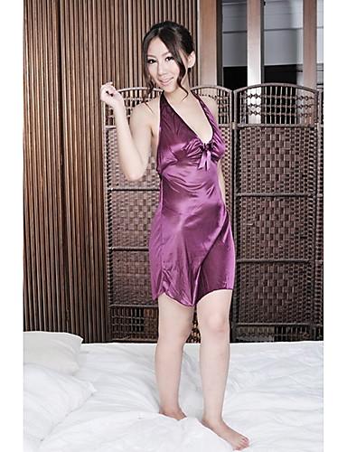 nuisette culottes lingerie en dentelle satin soie ultra sexy v tement de nuit femme. Black Bedroom Furniture Sets. Home Design Ideas