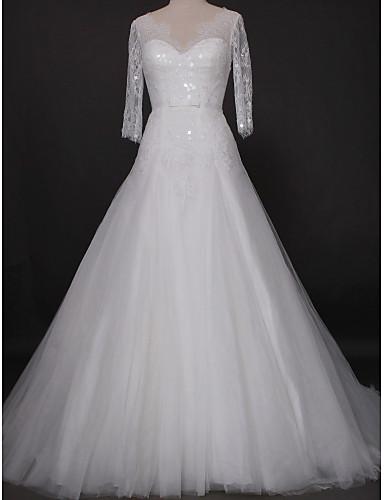 Lanting Bride® Leger & Aufgebauscht Hochzeitskleid Kathedralen ...
