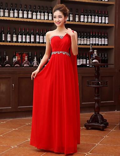 Buy Formal Evening Dress A-line One Shoulder Floor-length Georgette