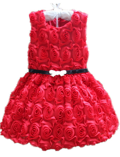 Buy 2015 Retail Kids Girl Formal Dress Cute Princess Wedding Party 3-8 Years Evening Dresses
