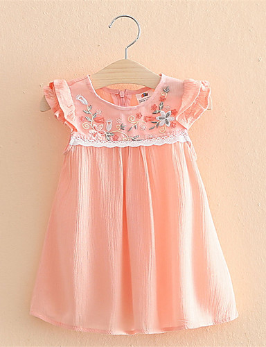 Buy Summer Baby Kids Girls Flower Princess Sleeveless Floral Ptined Dress Party