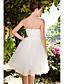 Lanting Bride® נשף קטן / מידה גדולה שמלת כלה - שיק ומודרני / לקבלת פנים שקוף באורך  הברך מחשוף לב טפטה / טול עם