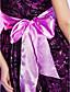 Онлайн бретельках короткий / мини атласное платье коктейль / выпускного вечера