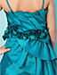 Ball Gown Spaghetti Straps Tea-length Taffeta Junior Bridesmaid Dress
