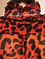 ts verzameld kraag luipaard print pofmouwen overhemd
