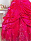 Ball Gown Sweetheart Floor-length Satin Evening/Prom Dress With Beading And Pick Up Skirt