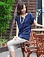 Mulheres Casual Simples / Moda de Rua Verão,Sólido Azul / Cinza