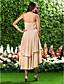 Homecoming Asymmetrical/Knee-length Chiffon Bridesmaid Dress - Champagne Plus Sizes A-line/Princess Sweetheart/Strapless