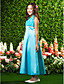 Lanting Bride® Ankle-length Chiffon / Satin Junior Bridesmaid Dress A-line / Princess Halter Empire with Beading