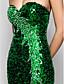 Vestito - Verde scuro Sera/Ballo Militare Tubino Senza Spalline/Cuore A Terra A paillette Taglie grandi