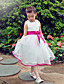Formal Evening / Wedding Party Dress A-line Jewel Knee-length Organza / Satin with