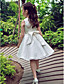 Formal Evening / Wedding Party Dress A-line Jewel Knee-length Satin / Tulle with Bow(s)