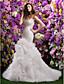 Lanting Bride® Εφαρμοστό & Εμβαζέ Νυφικό Ουρά μέτριου μήκους Σχήμα Καρδιάς Οργάντζα με