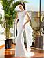 Lanting Bride® Trompet / zeemeermin Petite / Grote Maten Bruidsjurk Strijksleep Bandjes Chiffon met