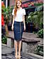 Γυναικεία Φούστα Μεγάλα Μεγέθη / Καθημερινό Βαμβάκι / Ντένιμ