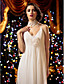 Lanting Bride® Футляр Для миниатюрных / Большие размеры Свадебное платье В пол На тонких бретелях Шифон с