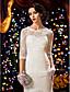 Lanting Bride® Русалка Для миниатюрных / Большие размеры Свадебное платье Прозрачные С коротким шлейфом Глубокий круглый вырез Кружева с
