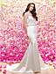 Lanting Bride® 트럼펫 / 머메이드 웨딩 드레스 Two-In-One 웨딩 드레스 / 스팽글 & 샤인 / 랩 웨딩 드레스 스윕 / 브러쉬 트레인 쥬얼리 새틴 / 튤 와