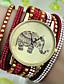 Bayanların Moda Saat Bilezik Saat imitasyon Pırlanta Quartz Deri Bant Siyah Beyaz Mavi Kırmızı Pembe Gül