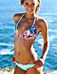 Bikinis Aux femmes Fleur/Bandage Push-up/Sans Armature Licou Polyester