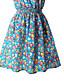 여성의 주름장식 드레스 라운드 넥 민소매 무릎 위 폴리에스테르