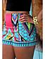 Mulheres Calças Casual Shorts Poliéster Micro-Elástica Mulheres