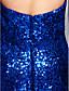 ts couture® formal, vestido de noite trompete / namorada tribunal sereia lantejoulas trem com lantejoulas