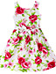 Virágos Pamut Nyár / Tavasz Lány Piros,Piros
