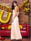 TS Couture® Επίσημο Βραδινό Φόρεμα Ίσια Γραμμή Στράπλες Λαιμόκοψη V Μακρύ Με πούλιες με Πούλιες