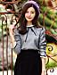 Up® 웨이크 여성 스탠드 3/4 길이 소매 셔츠 & 블라우스 그레이-CS16008