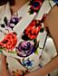 Gatemote Skjede Blomstret Dress Kvinner Ovenfor knéet Asymmetrisk Polyester