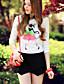 Rose Doll® Femme Col de Chemise Manche Longues Shirt et Chemisier Blanc-X14AST125