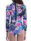 Kvinders Nylon / Spandex Halterneck Blomstret En del