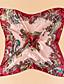 Feminino Vintage Casual Viscose Primavera Verão Outono Quadrangular,Estampado