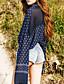 liangsanshi kvinders afslappet / daglig street chic sommer bluse, polka dot flipperne langærmet blå polyester tynd