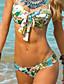 Kvinner Blomstret Halter Bikini Polyester